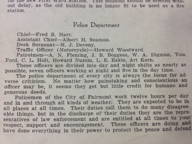 Newspaper Clipping about the Police Department