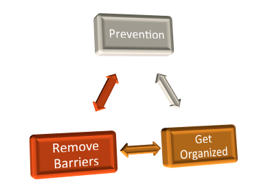 Prevention to Get Organized to Remove Barriers