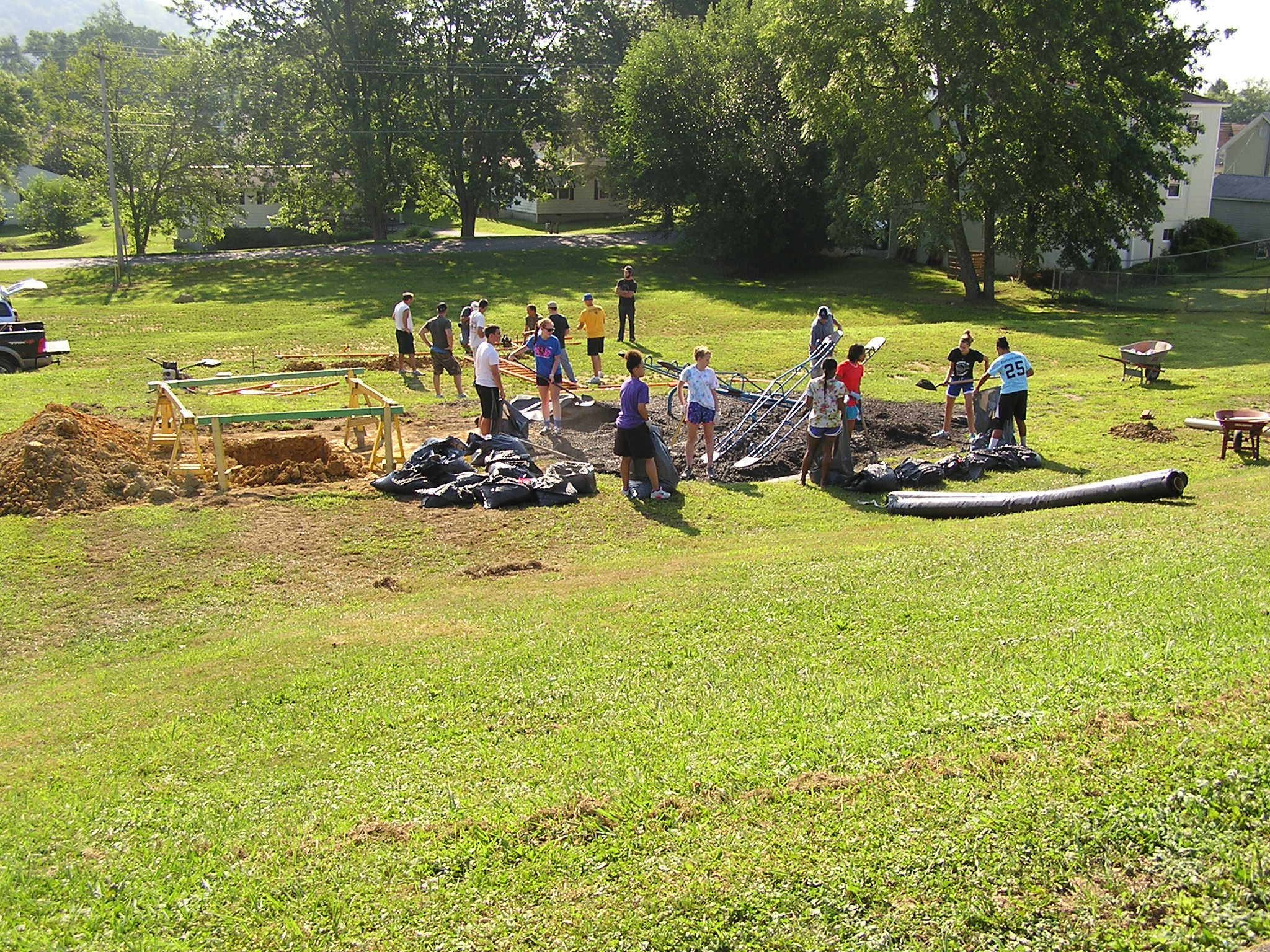 Volunteers Building Bellview Park