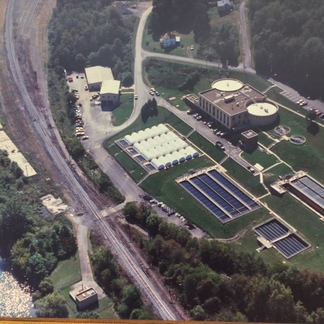 Aerial View of the Fairmont Wastewater Treatment Plant