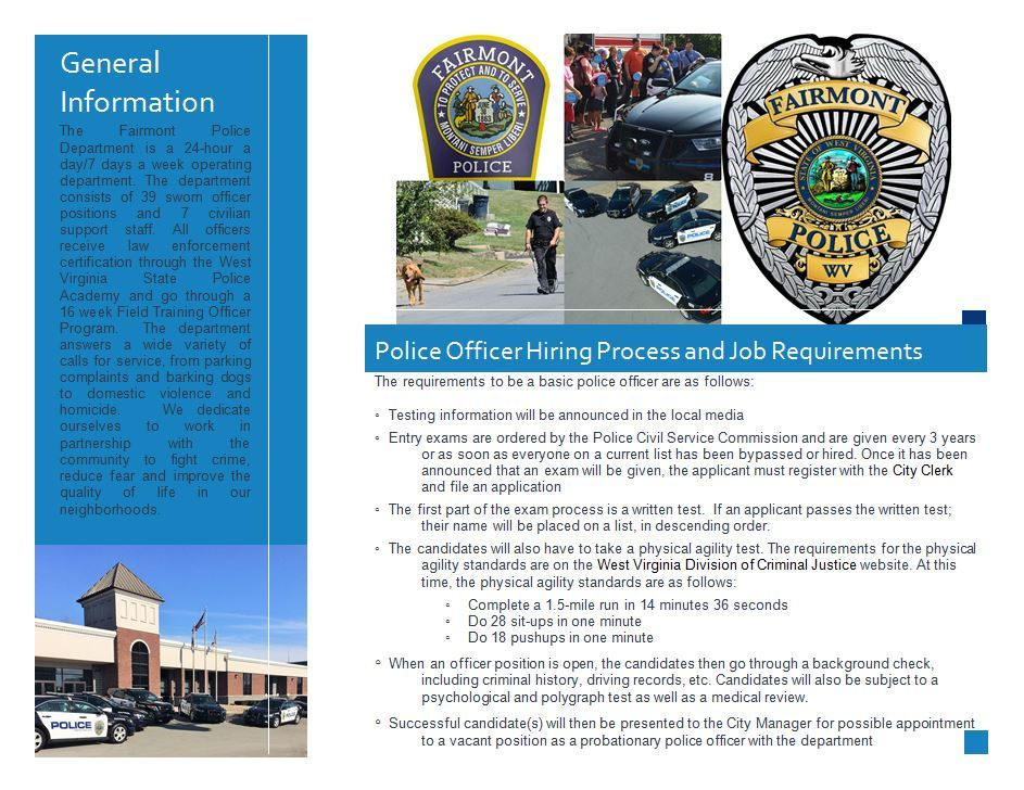 View the Fairmont Police Department Brochure Page 2